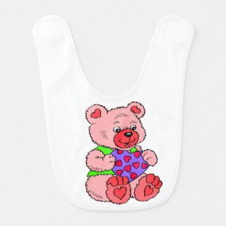 Babador Infantil Ursos   de ursinho coloridos