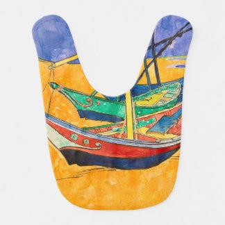 Babador Infantil Van Gogh que pinta barcos famosos