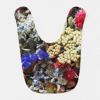 Babador Infantil Variedade de flores secadas
