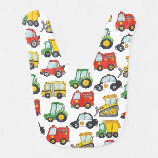 Babador Infantil Veículos bonitos