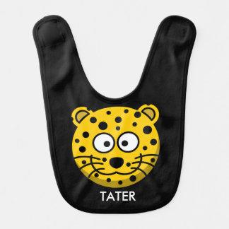 Babador Leopardo de sorriso reversível personalizado dos