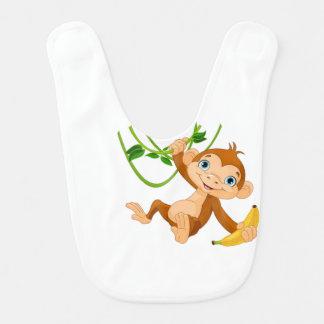 Babador Macaco bonito com banana