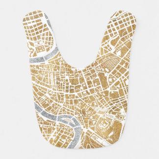 Babador Mapa dourado da cidade de Roma