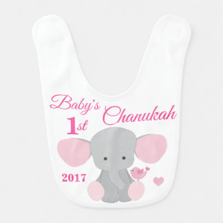 Babador Menina de bebês cor-de-rosa primeiro Chanukah do