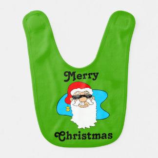 Babador O Feliz Natal refrigera o papai noel nos óculos de