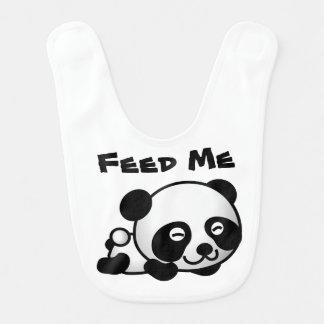 Babador O urso de panda com fome do bebê alimenta-me