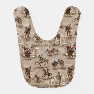 Babador ocidental do bebê do vaqueiro do rodeio