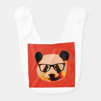 Babador Panda com vidros no vermelho