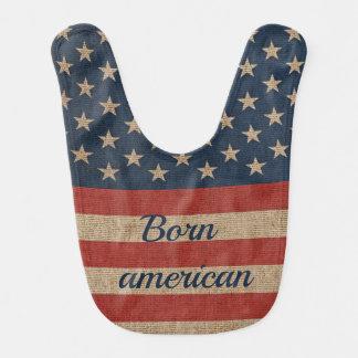 Babador patriótico do bebê com a bandeira dos EUA