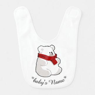 Babador peluches do bebê do urso polar