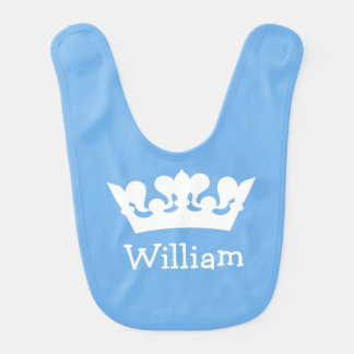Babador pequeno do príncipe azul bebé