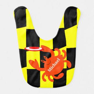 Babador personalizado caranguejo do Frisbee de