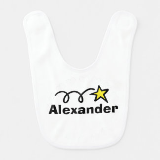 Babador personalizado do bebê com a estrela