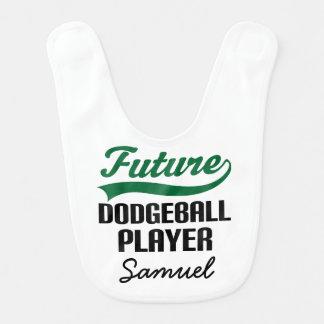 Babador personalizado do bebê de Dodgeball jogador