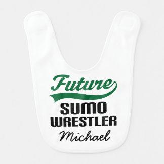 Babador personalizado do bebê do Sumo lutador