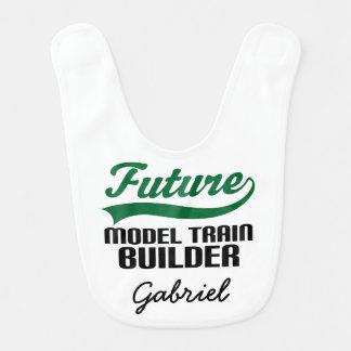 Babador personalizado do bebê do trem construtor