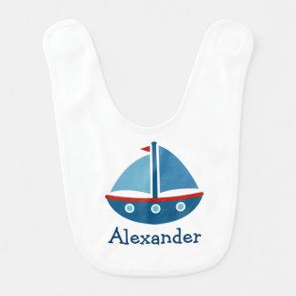 Babador personalizado do bebê do veleiro do