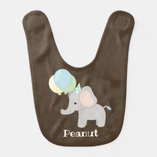 Babador personalizado do elefante do bebê
