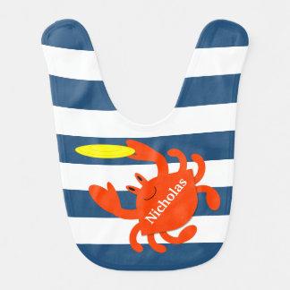 Babador personalizado do marinho caranguejo