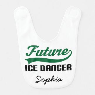 Babador personalizado futuro do bebê do dançarino