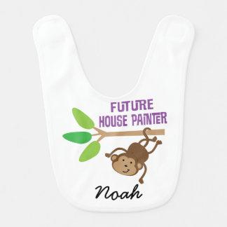 Babador personalizado futuro do bebê do pintor de