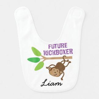 Babador personalizado Kickboxer futuro do bebê