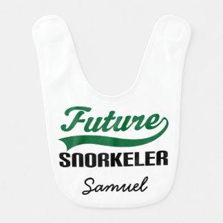 Babador personalizado Snorkeler futuro do bebê