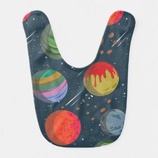 Babador Planetas coloridos no espaço