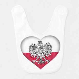Babador polonês do bebê do amor