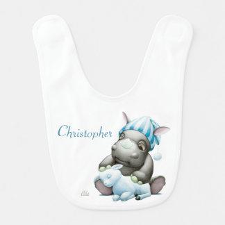 Babador Pouco G o rinoceronte do bebê personalizou o