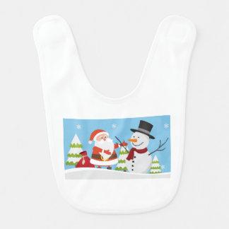 Babador Presente bonito do Xmas do Natal do boneco de neve