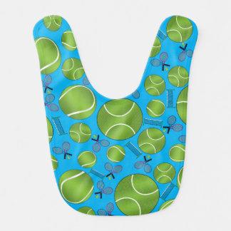 Babador Raquetes e redes das bolas de tênis dos azul-céu