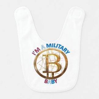 Babador Roupa militar do bebê de Bitcoin