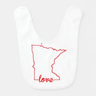 Babador Silhueta do estado do amor de Minnesota
