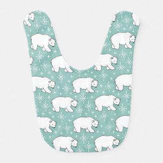 Babador Teste padrão bonito verde do urso polar da hortelã