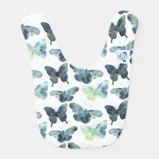 Babador Teste padrão de borboletas azul verde artístico da