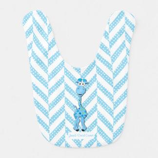Babador Teste padrão do design do girafa dos azuis bebés