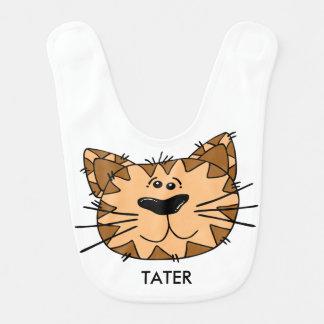 Babador Tigre de sorriso reversível personalizado dos