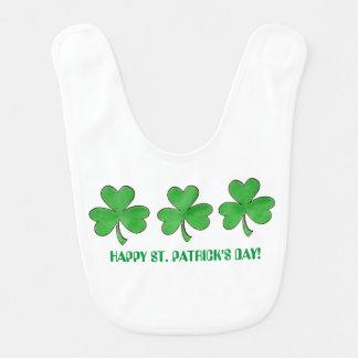 Babador Três trevos do verde do dia de St Patrick dos