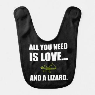 Babador Tudo que você precisa é amor e um lagarto
