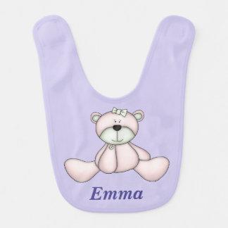 Babador Urso de ursinho cor-de-rosa bonito do bebê do