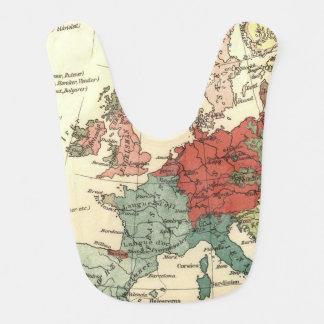 Babador Viagens vintage do mapa de Europa