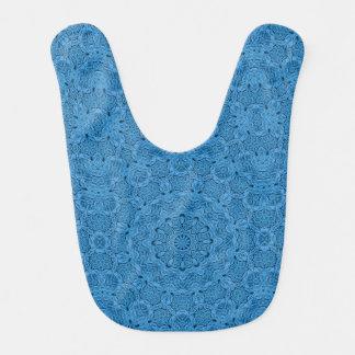 Babadores coloridos do bebê do vintage azul