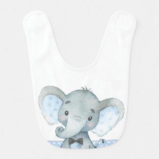 Babadores do elefante do menino