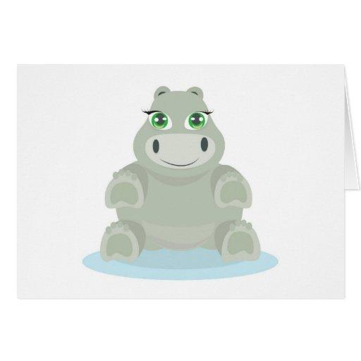 Baby Hippo Cartão