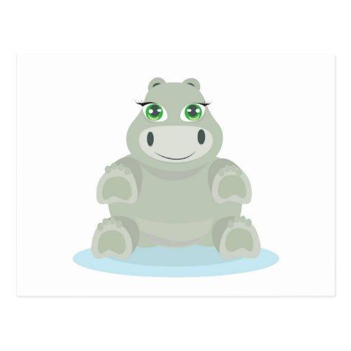 Baby Hippo Cartao Postal