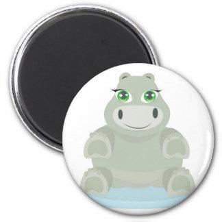 Baby Hippo Ímã Redondo 5.08cm