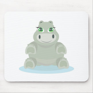 Baby Hippo Mouse Pads