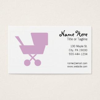 Baby-sitter Babysitting da puericultura Cartão De Visitas