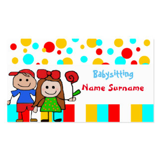 baby-sitter, babysitting, infantário…. cartão de visita